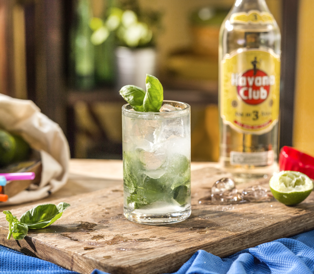 Basil twist mojito Cocktail recipe Havana club