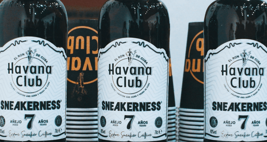 Collab Sneakerness x Havana Club limited edition bottle