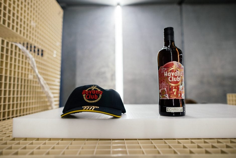 Collab Aries Arise x Havana Club limited edition bottle and cap