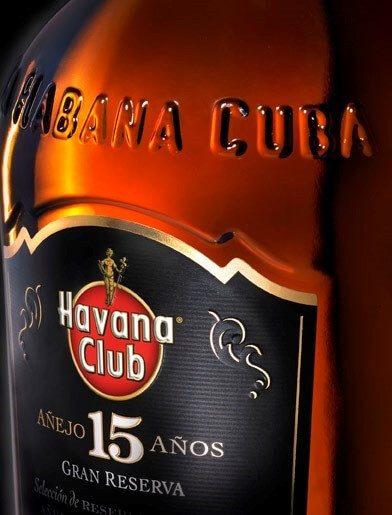 Havana Club 15 Jahre Rumflasche