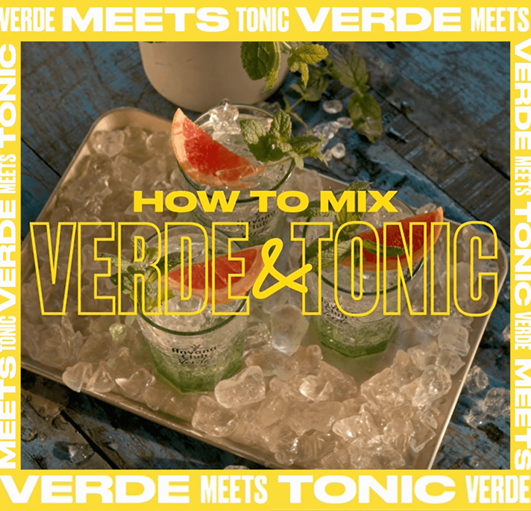 Havana Club Verde Tonic Mixing Video