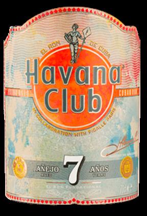 Havana Club x Pigalle Flaschen Label